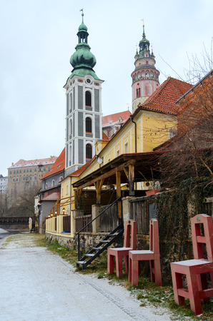 Historic center of small medieval town of Cesky Krumlov