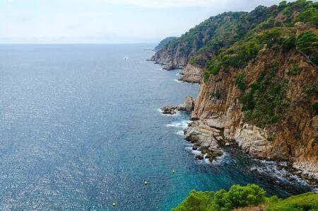 Beautiful view of rocky coast, Tossa de Mar, Costa Brava, Catalonia, Spain Banque d'images