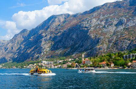 Beautiful view of Bay of Kotor, Montenegro 写真素材
