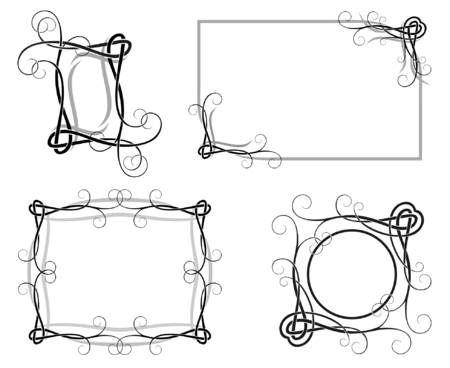 vector illustration of decorative frames for design