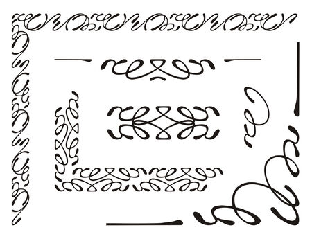 vector illustration, elements of decorative ornament