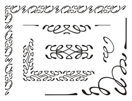 vector illustration, elements of decorative ornament