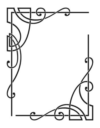 bordure de page: vecteur coins d�coratifs