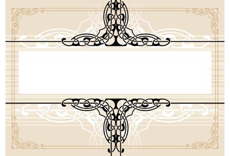 illustration vectorielle d'un cadre de style r�tro Illustration