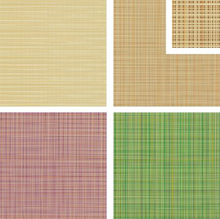four colour versions of the textile background
