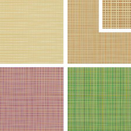 quatre versions de la couleur de fond du textile