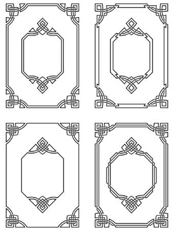 装飾用の罫線  イラスト・ベクター素材