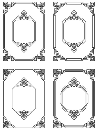 celtic background: ornamental borders Illustration