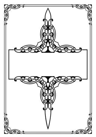 vector illustration d'un cadre de style r�tro