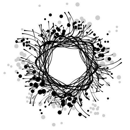 abstract floral round frame Illustration