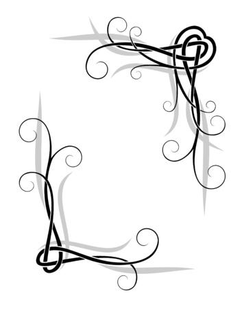 decoratieve elementen voor ontwerp, hartvorm, vector