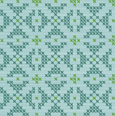 fragment de textile brod� de fils de couleur