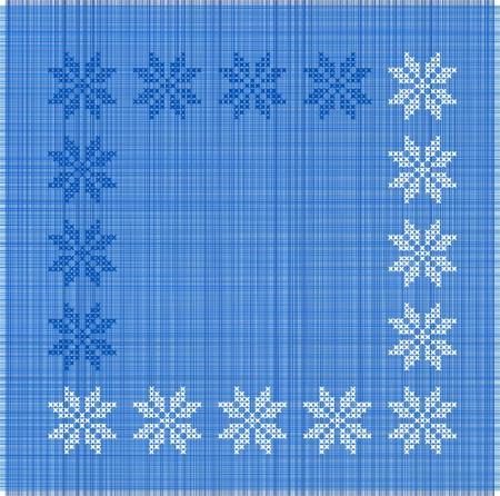 brod� flocons de neige Illustration