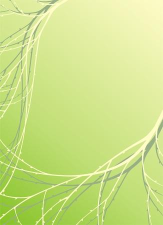 sur fond vert avec des brindilles, illustration vectorielle Illustration