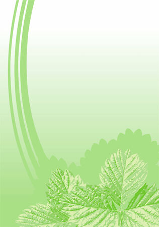 fond avec les feuilles de fraisier Illustration