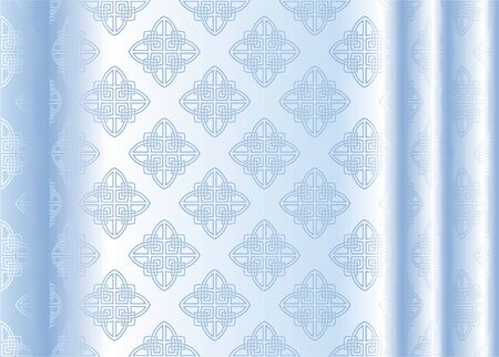 illustration vectorielle de soie bleu clair avec motif abstrait