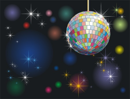 background with disco-ball and lights