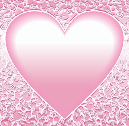 rosy: ornamental heart