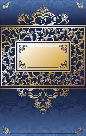 空想のゴールデン フレーム  イラスト・ベクター素材