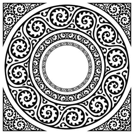 circle frames and corner Imagens - 5471765