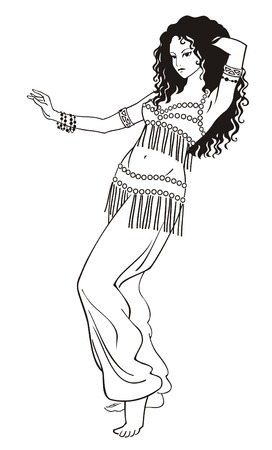 danseuse orientale: ventre danseur Illustration