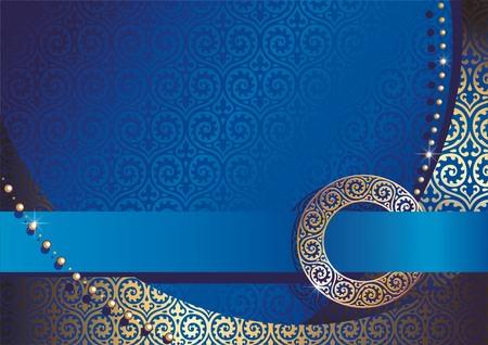 fond de soie bleu Illustration