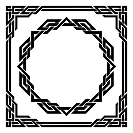 square detail: black ornamental border