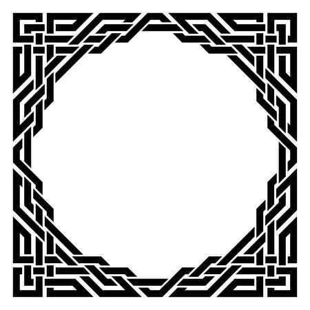 black ornamental border