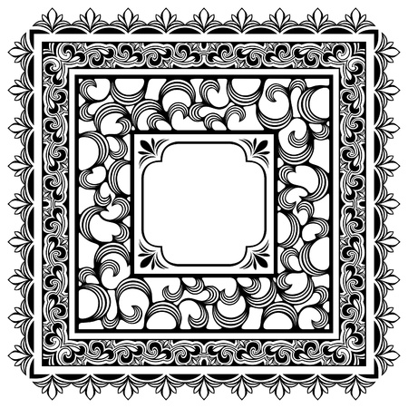 square borders Illustration