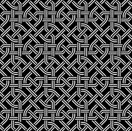 chequered ribbon: celtic seamless pattern
