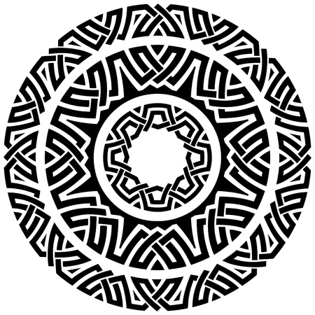 set of three ornamental circle borders