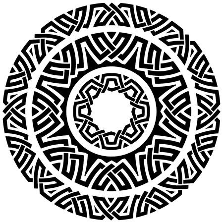 set of three ornamental circle borders