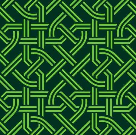 ベクトル緑ケルトのシームレスなパターン