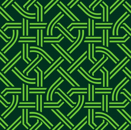 vector green celtic seamless pattern