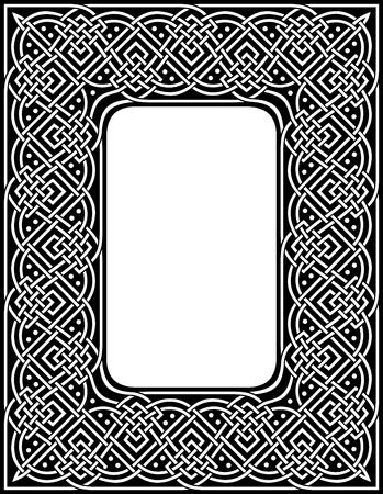 任意サイズの装飾用のケルトの縁取りに編集可能  イラスト・ベクター素材