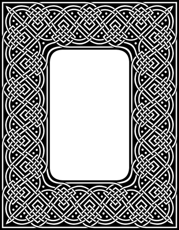 editable at any size ornamental celtic border