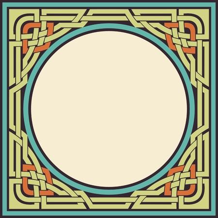 vector colored ornamental celtic frame