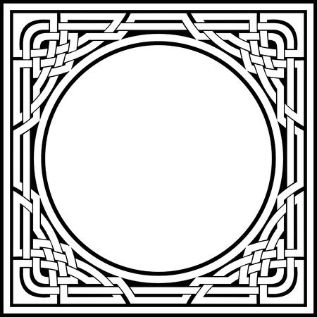 vecteur d'ornement cadre celtique de fantaisie Illustration