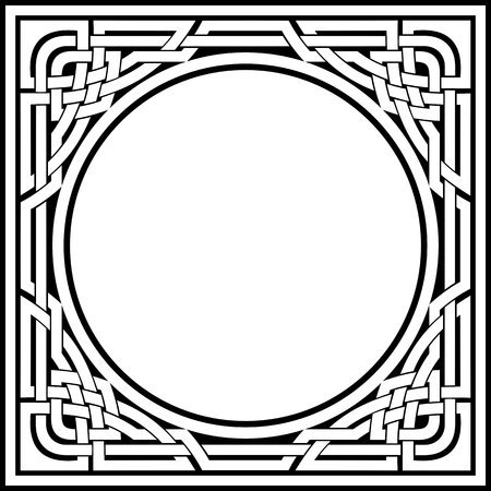 vector ornamental fancy celtic frame
