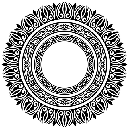 set of three circle ornamental frames