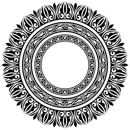 set of three circle ornamental frames