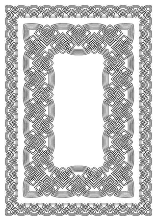editable at any size ornamental celtic border Vector