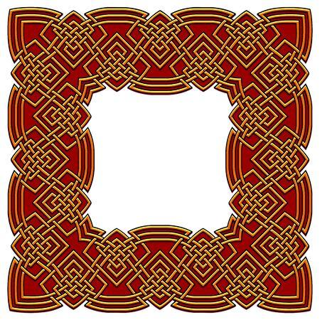 vector colored ornamental celtic border