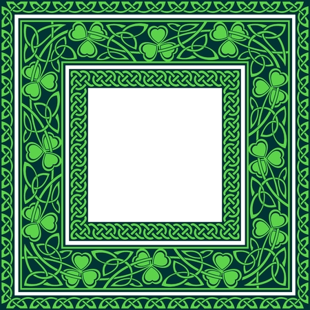 set of three celtic borders editable at any size Vector