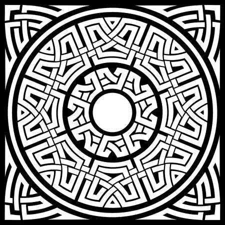 set of circle celtic ornamental frames and corners Imagens - 33674225