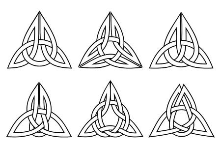 ベクトル ケルトの三位一体の結び目セット、ストロークと白
