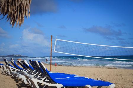 landscape on the shores of the Atlantic Ocean. Dominican Republic, Punta Cana. Stock Photo