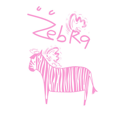 Zebra pattern with white background