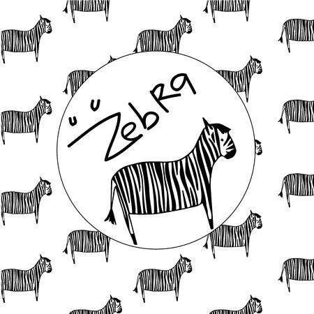 Zebra pattern with white background
