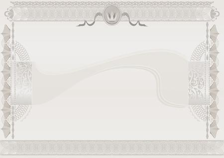 Beige light official certificate